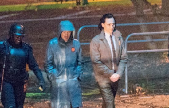 Tom Hiddleston on Loki Set (Photos + Video)